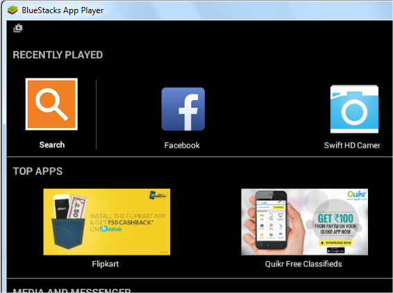 search bluestacks