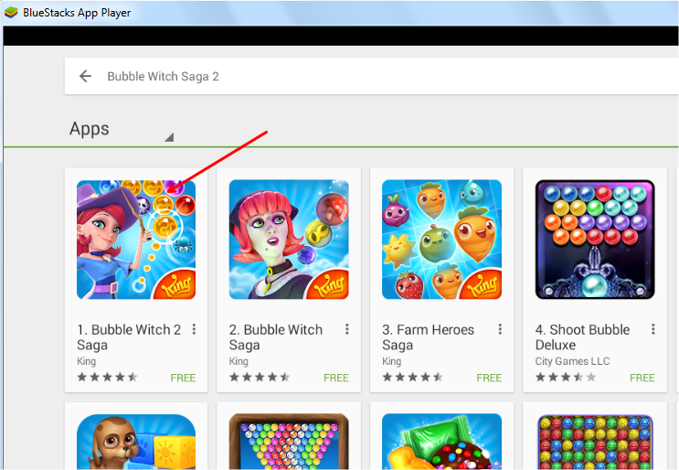 install bubble witch saga 2 in desktop