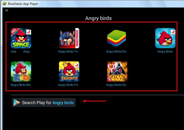 angry birds in bluestacks