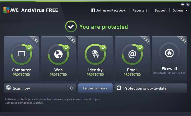 AVG Antivirus for Windows 10