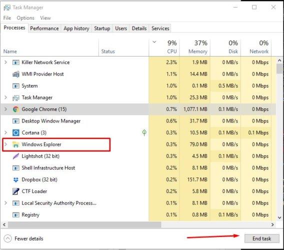 Fixing Windows 10 taskbar not working issue