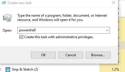 using powershell in Windows 10