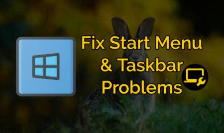 windows 10 start menu taskbar not working