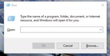 Windows 10 Run box