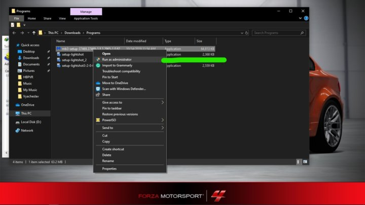 open Malwarebytes setup file on PC