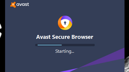 The Process of installing Avast Secure Browser