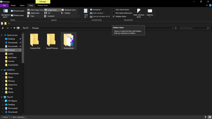 Click View and Tick on Hidden Files